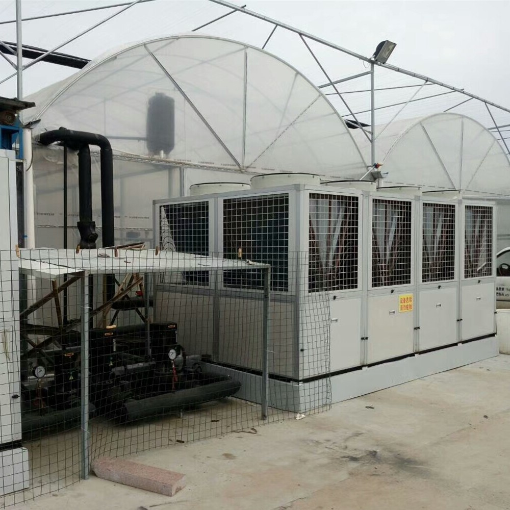 昆明空气能热泵服务大理兰国花叶2千平米花卉大棚!